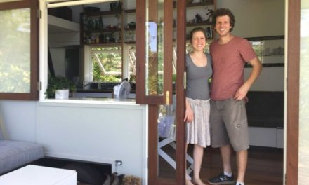 How a young Brisbane family with a baby live in an 18-square-metre tiny house