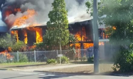 Two houses ablaze after gas explosion in Townsville