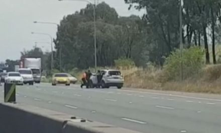 Unconscious man behind wheel as car spins out of control on major Sydney motorway