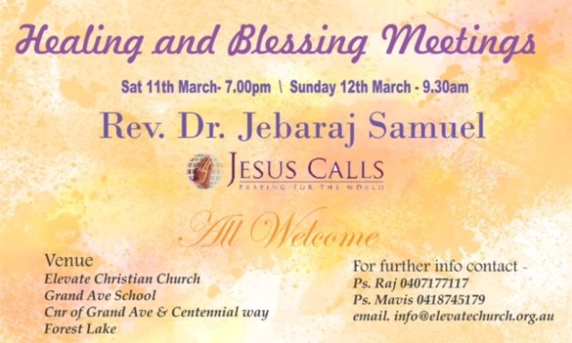 Healing and Blessings meetings planned in Forest Lake