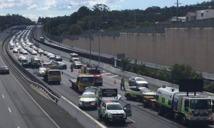 Two police officers among five injured in Pacific Motorway crash