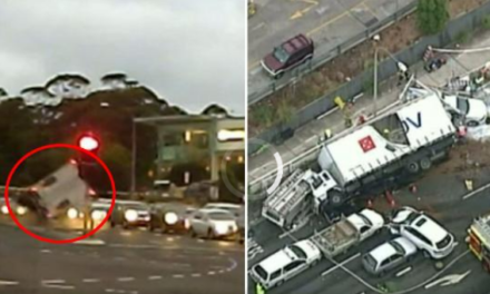 Truck driver who seriously injured two police officers sentenced to three years in jail