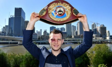 """I've climbed Pacquiao mountain."", says Jeff Horn after winning WBO title"