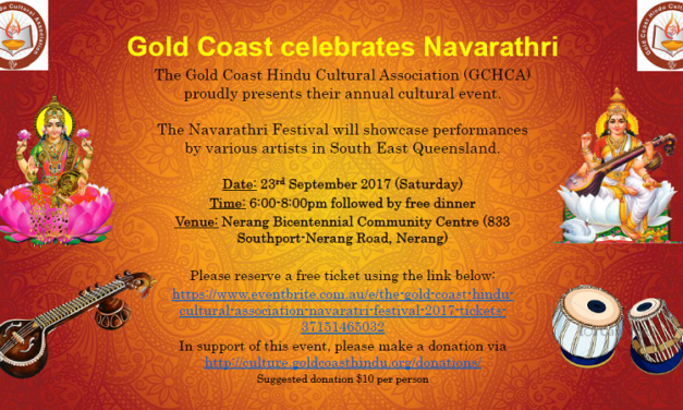 Gold Coast Hindu Cultural Association to celebrate Navarathri on Sept 23