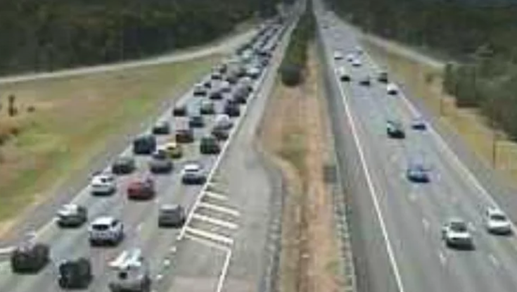 Long weekend traffic chugs as major highways hit with delays