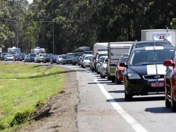 GRIDLOCK: 10km crawl after crash on Bruce Hwy