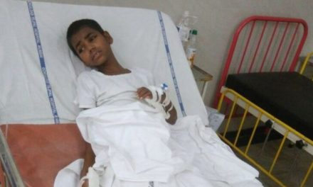 A paralysed child from India's 45-day journey for surgery
