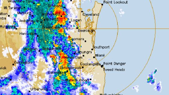 Heavy rain lashes Gold Coast