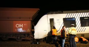 two trains collide in Germany