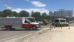 two-vehicle crash on the Bruce Highway