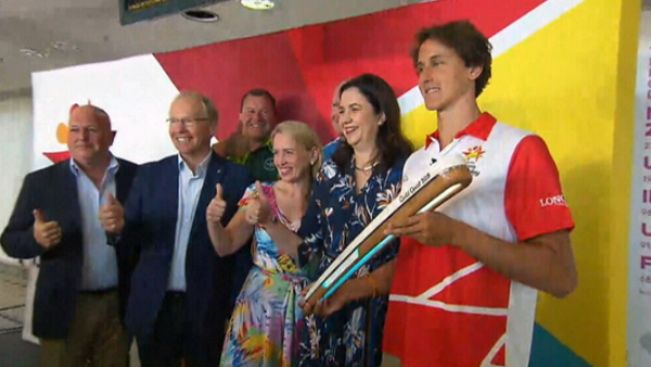 Commonwealth Games baton lands in Brisbane