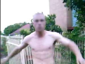still image from a brisbane man video posted on Facebook