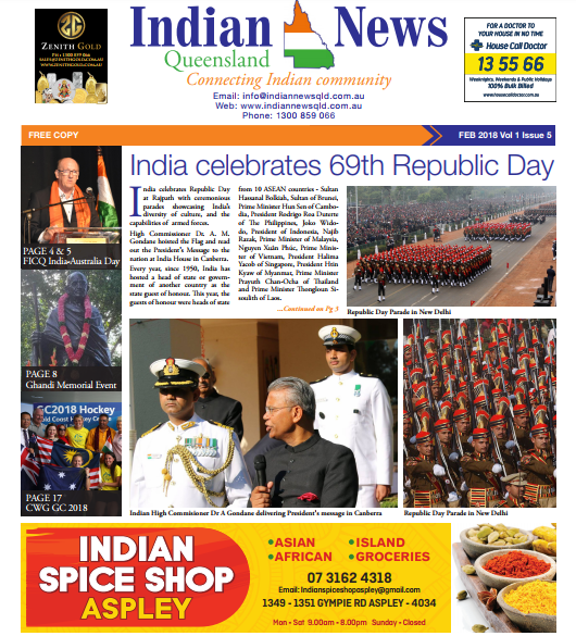 Indian News Queensland Feb 2018 Magazine