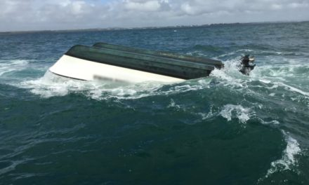 Eight rescued as Queensland catamaran capsizes