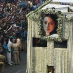 Sridevi Kapoor: India crowds say goodbye to Bollywood star