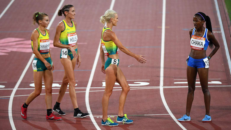 Australian runners who waited for last competitor are 'all class'
