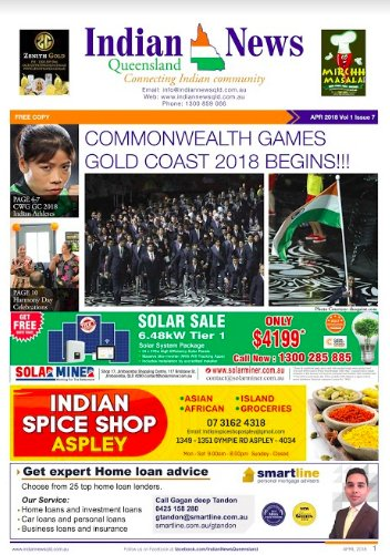 Indian News Queensland April 2018 Magazine