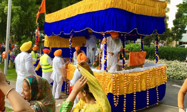 Nagar Kirtan and colorful parade by Sikhs in Brisbane