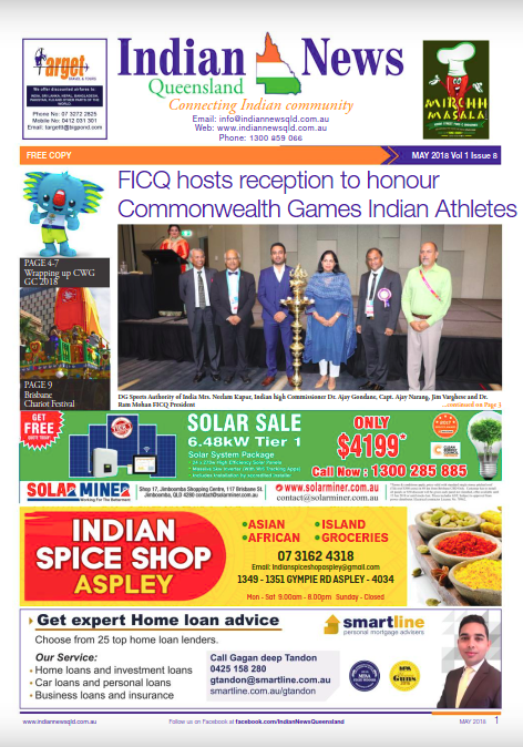 Indian News Queensland May 2018 Magazine