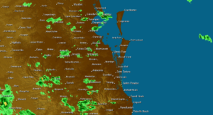 Extreme weather rainfall in queensland