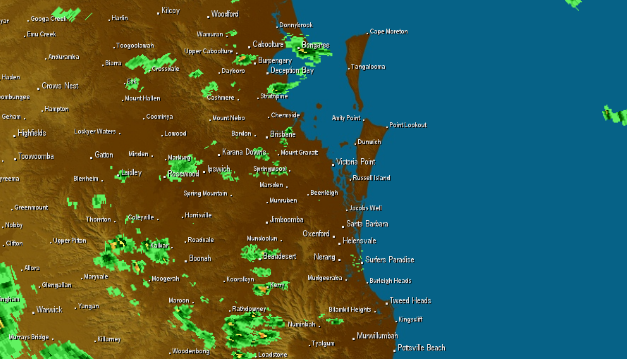 Thunderstorms and heavy rainfall for southeast Queensland