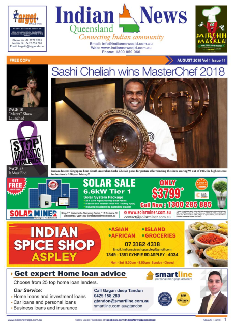 Indian News Queensland August 2018 Magazine