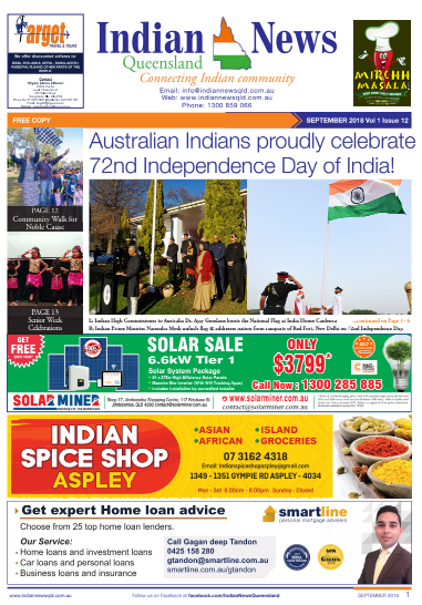 Indian News Queensland September 2018 Magazine