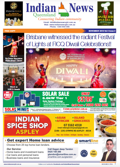 Indian News Queensland – November 2018 Vol 2 Issue 2