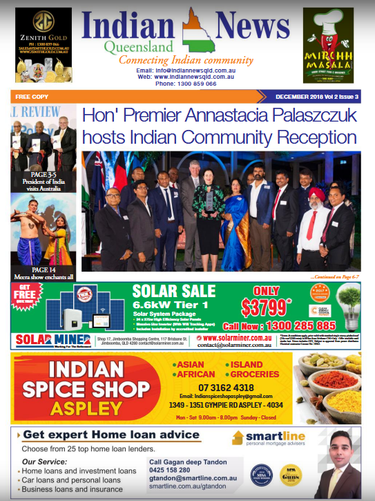 Indian News Queensland December2018 Magazine