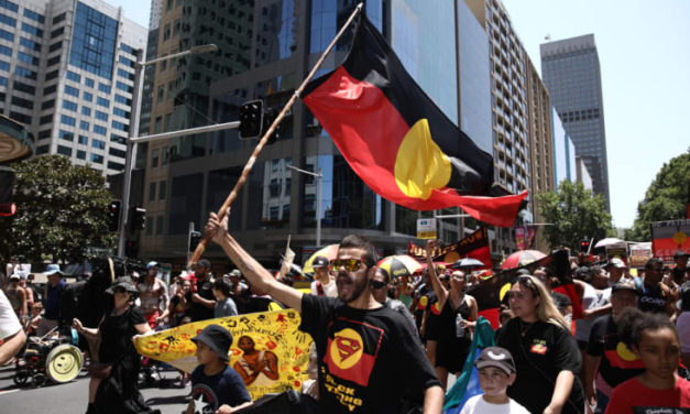 'Offensive to celebrate genocide': Invasion Day protesters swarm streets