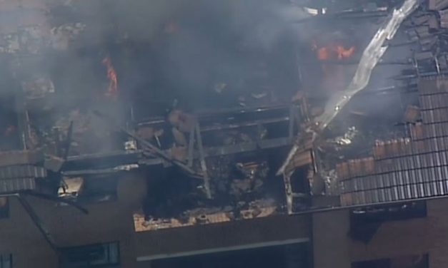 Fire guts unit building in Sydney's west