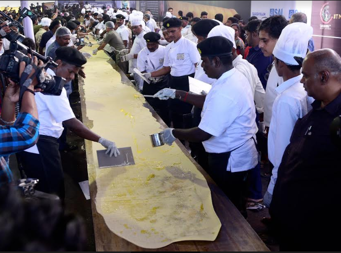 Chennai restaurant claims to have made world's longest dosa