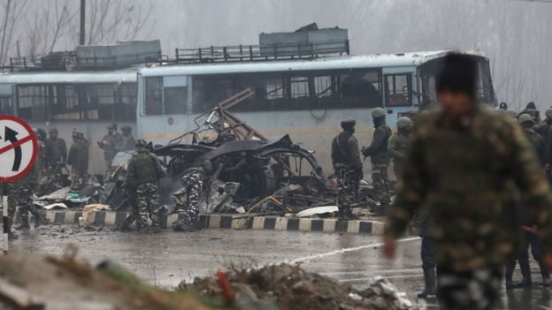 Kashmir attack: Bomb kills 40 Indian paramilitary police in convoy