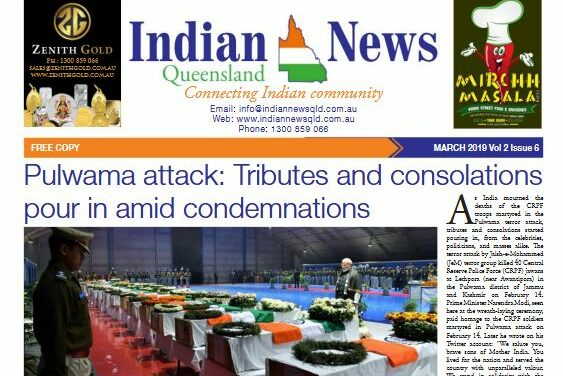 Indian News Queensland – March 2019 Vol 2 Issue 6