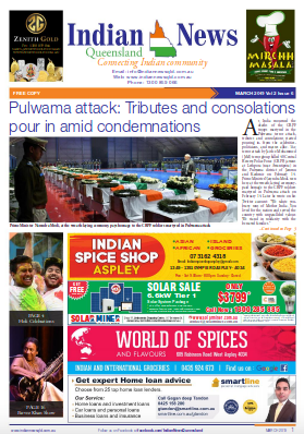 Indian News Queensland – March 2019