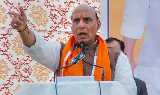 As BJP's Rajnath Singh Files Poll Papers In Lucknow No Rival Yet