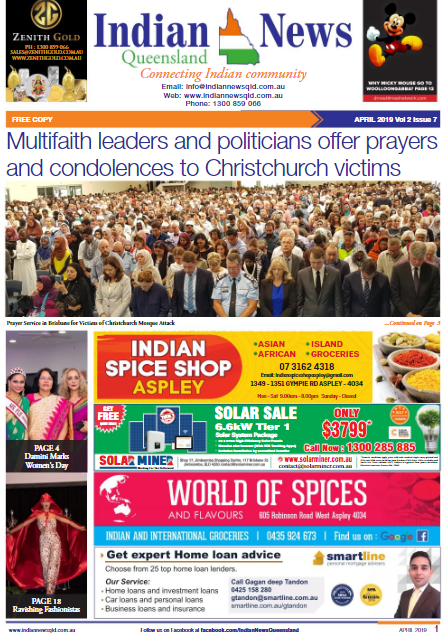 Indian News Queensland – April 2019 Vol 2 Issue 7