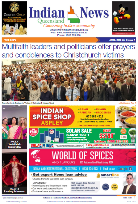 Indian News Queensland – April 2019
