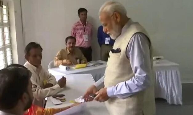 Voter ID More Powerful Than IED Says PM After Voting In Ahmedabad