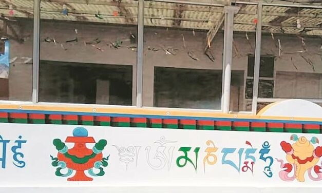 Buddhist Texts Painted at Gurdwara Pathar Sahib Army Repaints it after Protest