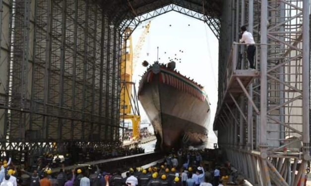 Imphal Indian Navy's Advanced Guided Missile Destroyer Launched in Mumbai