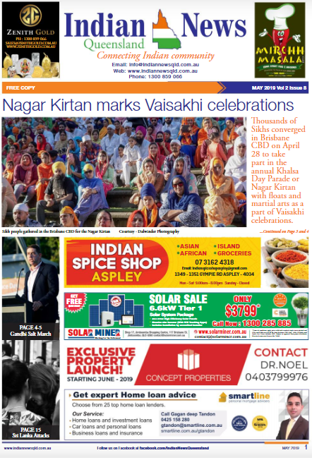 Indian News Queensland – May 2019