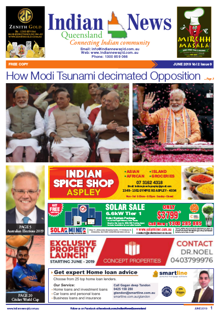 Indian News Queensland – June 2019