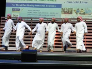 Egyptian dance team performing on stage