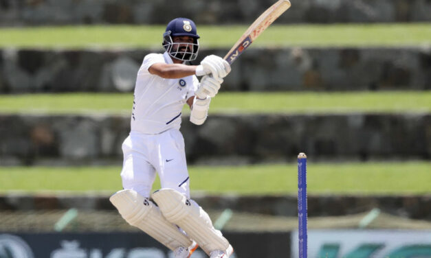Rahane Fifty Silver Lining on Rain-marred Day in Antigua