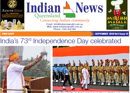 Indian News Queensland – September 2019 Vol 2 Issue 12