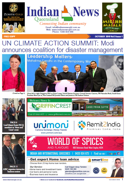 Indian News Queensland –  October 2019