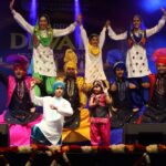 Bhangra, the high-energy dance from the Indian state of Punjab, being performed on stage