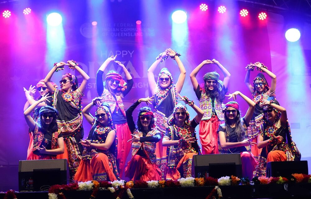King George Square vibrates with Bollywood beats and Diwali celebrations