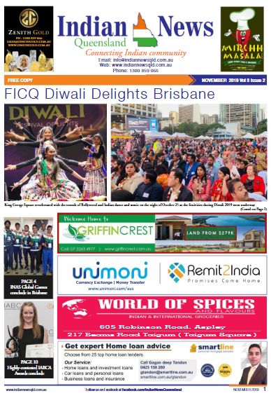 Indian News Queensland –  November 2019